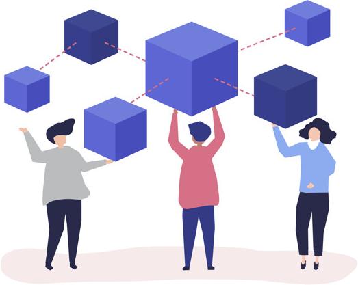 بلاکچین یک نوع سامانه ثبت اطلاعات و گزارش است. تفاوت آن با سیستمهای دیگر این است که اطلاعات ذخیره شده روی این نوع سیستم، میان همه اعضای یک شبکه به اشتراک گذاشته میشود.